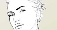 Scarlett Line Art