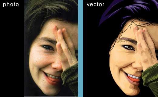 Как сделать в фотошопе векторный рисунок